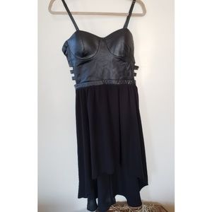 Dresses & Skirts - Black dress with faux leather top